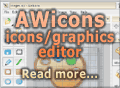 AWicons - icons/cursors/small graphics editor