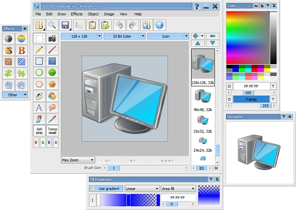 AWicons Pro is an editing tool for small graphics such as icons and cursors.
