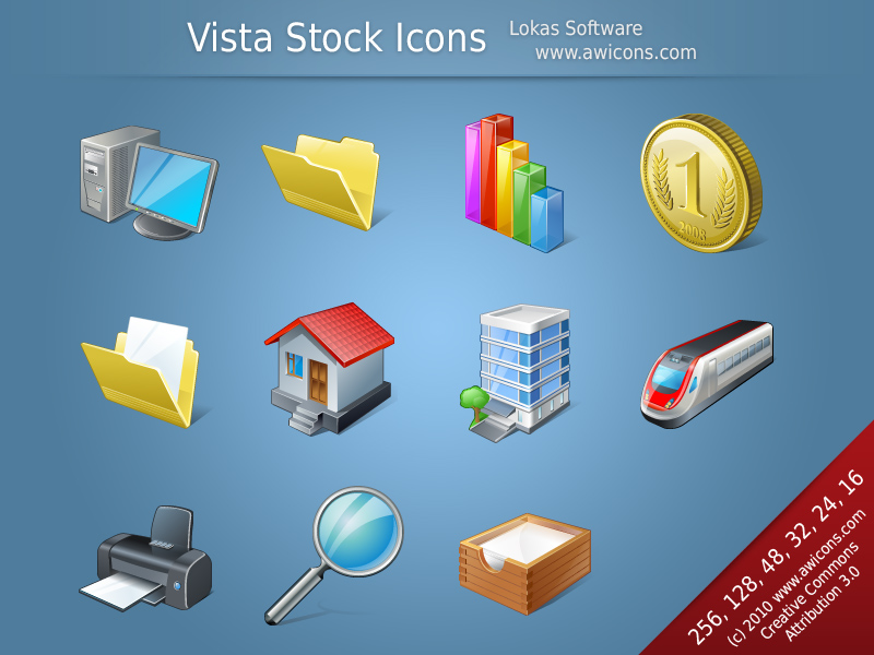 Vista Stock Icons Screen shot