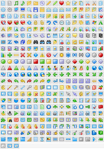 Over 500 royalty-free stock icons for sites and applications. All sizes! Screen Shot