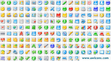 Over 175 royalty-free stock icons for sites and applications. All sizes!