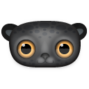 Black Leopard Icon 128px png