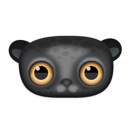 Black Leopard Icon 256px png