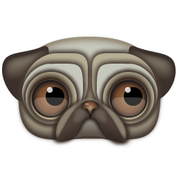 Pug Icon 256px png