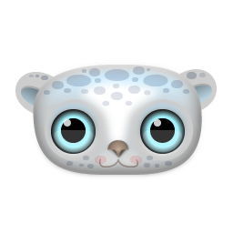 Snow Leopard Icon 256px png