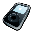 iPod Video Black Icon 128px png