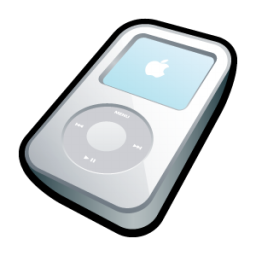 iPod Video White Icon 256px png