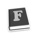 Font Book Icon 128px png