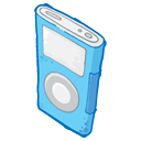 iPod Blue Icon 128px png
