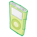 iPod Green Icon 128px png