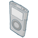 iPod Grey Icon 128px png