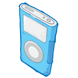 iPod Blue Icon 256px png