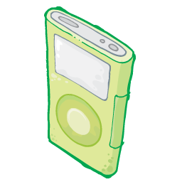iPod Green Icon 256px png