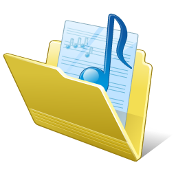 Folder My Music Icon 256px png