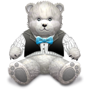 Gift Light Grey Bear Icon icon