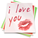 Paper Kiss Icon 128px png
