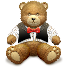 Gift Brown Bear Icon 256px png