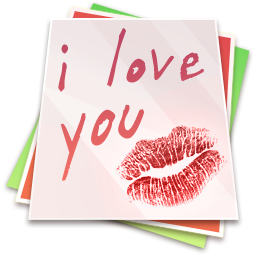 Paper Kiss Icon 256px png