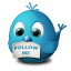Twitter Follow Me Icon 64px png