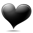 Black Heart Icon icon