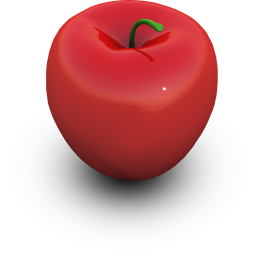 Red Apple Icon 256px png