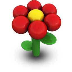 Red Daisy Icon 256px png