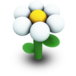 White Daisy Icon 256px png