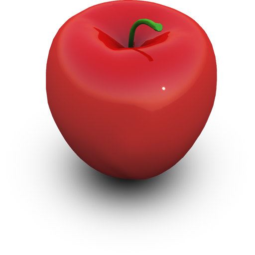 Red Apple Icon 512px png