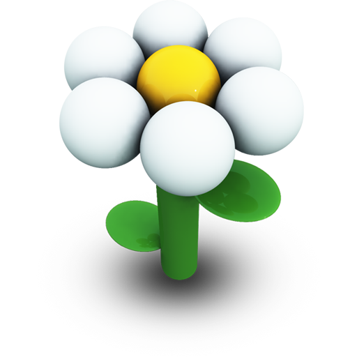 White Daisy Icon 512px png
