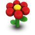 Red Daisy Icon 72px png
