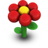 Red Daisy Icon 96px png