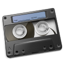 Cassette Graphite Icon 128px png