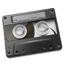Cassette Gray Icon 128px png