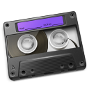 Cassette Purple Icon icon