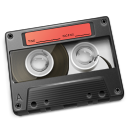 Cassette Red Icon icon