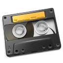 Cassette Yellow Icon 128px png