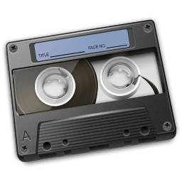 Cassette Graphite Icon 256px png