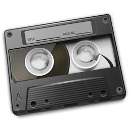 Cassette Gray Icon 256px png
