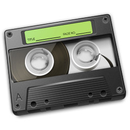 Cassette Green Icon 256px png