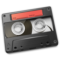 Cassette Red Icon 256px png