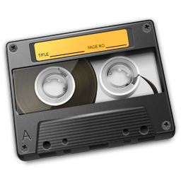 Cassette Yellow Icon 256px png