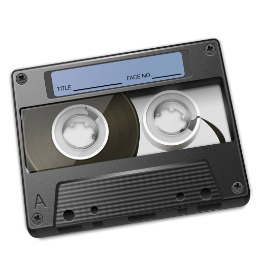 Cassette Graphite Icon 512px png