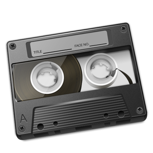 Cassette Gray Icon 512px png