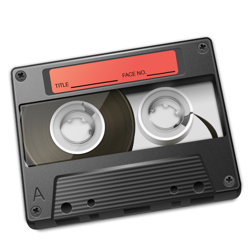 Cassette Red Icon 512px png
