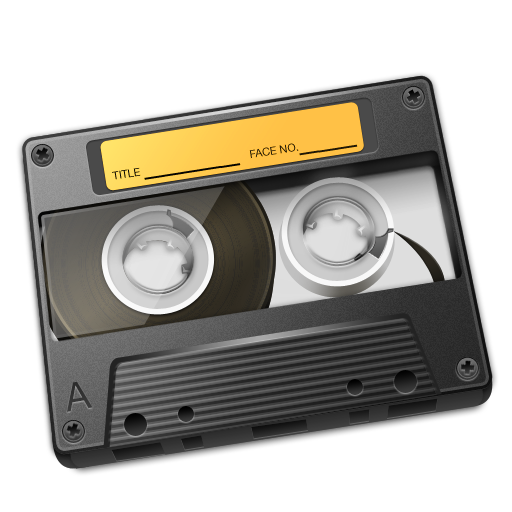 Cassette Yellow Icon 512px png