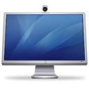 Cinema Display + ISight (blue) Icon 128px png