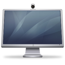 Cinema Display + ISight (graphite) Icon 128px png