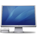 Cinema Display + Macmini(blue) Icon 128px png