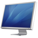Cinema Display Diagonal (blue) Icon icon