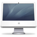 iMac (graphite) Icon 128px png